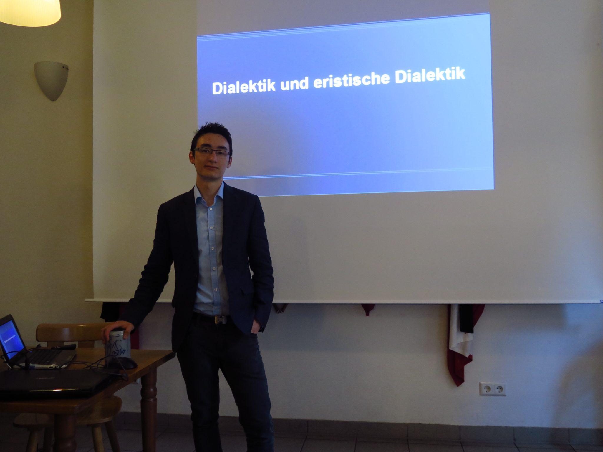 Dialektik – Burschungsvortrag von Benedict Hasenauer